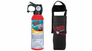 Counter assault bear spray repellent.