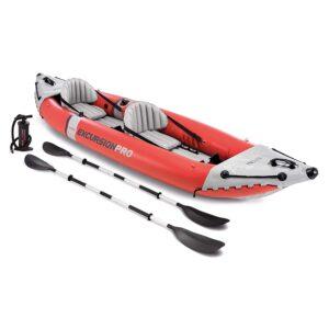 2 person inflatable fishing kayak Intex.