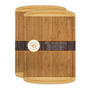 Bamboo Cutting Board 2 Set.