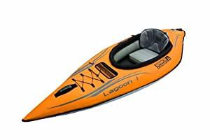 Lagoon Yellow 1 Person inflatable kayak.