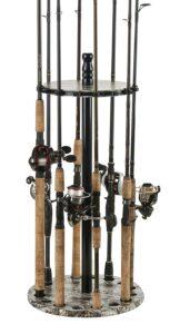 Round Floor Fishing Rod Storage.