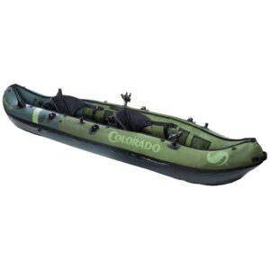 Sevylor Coleman 2 person green kayak.