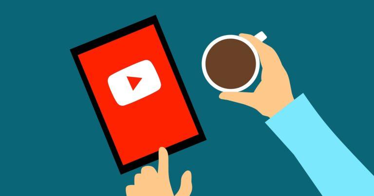 Coffee with Youtube app open on ipad.